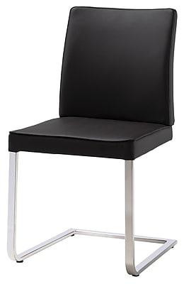 Whiteline Imports Ivy Dining Chair (Set of 2); Black