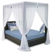 Patio Heaven Palisades Queen Canopy Bed w/ Cushions; Sailor
