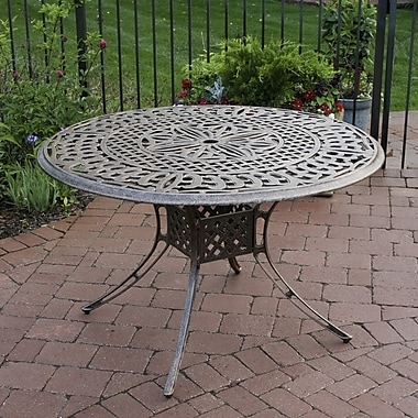 Oakland Living Patio Dining Table; Antique Pewter