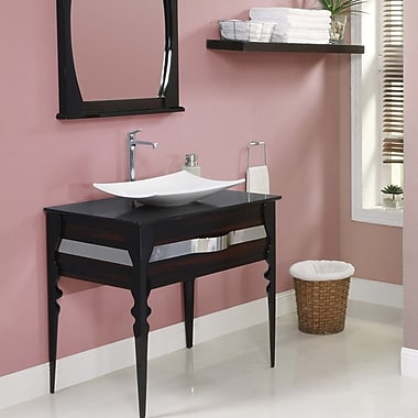 DecoLav Natasha 37'' Single Bathroom Vanity Set; Ebony / Black Gloss