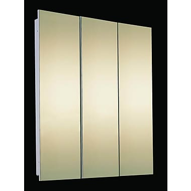 Ketcham Medicine Cabinets Tri-View 60'' x 36'' Recessed Medicine Cabinet