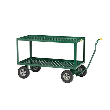 Little Giant USA 24'' x 36'' 2 Shelf Steel Perforated Deck Utility Cart