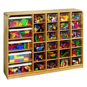 Korners 30 Compartment Cubby w/ Casters; Birch