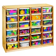 Korners 24 Compartment Cubby w/ Casters; Birch