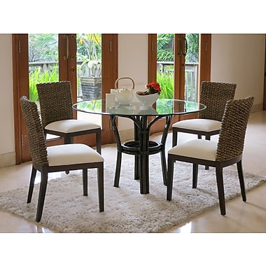 Panama Jack Sunroom Sanibel 5 Piece Dining Set; Deco Spa