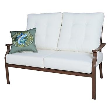 Panama Jack Island Breeze Deep Seating Loveseat w/ Cushions; Canvas Brick