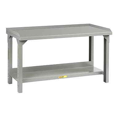 Little Giant USA Welded Adjustable Height Steel Top Workbench; 41'' H x 72'' W x 30'' D
