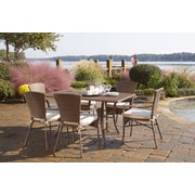 Panama Jack Key Biscayne 7 Piece Dining Set w/ Cushions; Linen Champagne