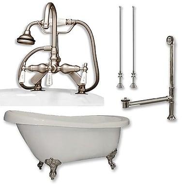 Cambridge Plumbing 61'' x 28'' Bathtub; Brushed Nickel