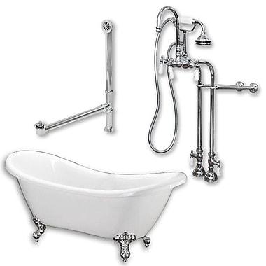 Cambridge Plumbing 68'' L x 28'' W Bathtub; Polshed Chrome