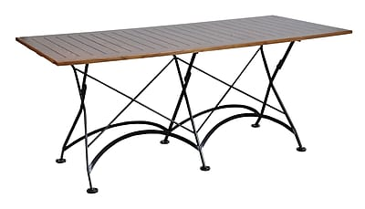 Furniture Designhouse European Caf Folding Table; Chestnut