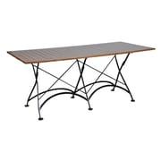 Furniture Designhouse European Caf  Folding Table; Chestnut