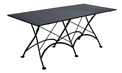 Furniture Designhouse European Caf Folding Table; Satin\/Half-matte