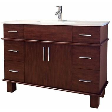 American Imaginations Transitional 47'' Single Bathroom Vanity Base; Chrome