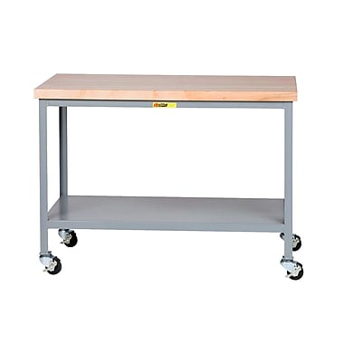 Little Giant USA Mobile Butcher Block Top Workbench; 35'' H x 48'' W x 30'' D