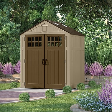 Suncast Everett 6 ft. 3 in. W x 5 ft. 5 in. D Plastic Tool Shed