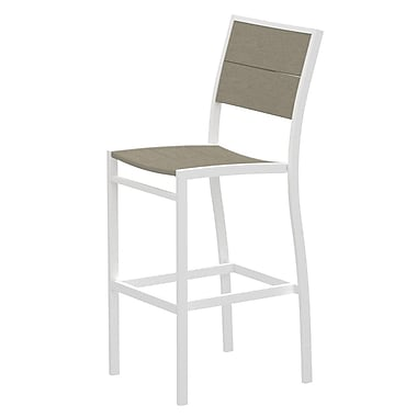 Trex Surf City 46'' Patio Bar Stool; Textured White/Sand Castle