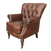 White x White Belfort Leather Club Chair