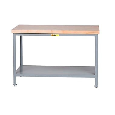 Little Giant USA Adjustable Height Butcher Block Top Workbench; 24'' W x 24'' D