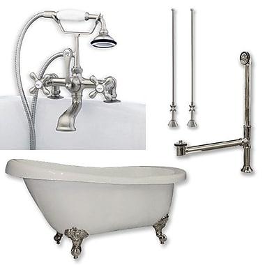 Cambridge Plumbing 67'' L x 28'' W Freestanding Bathtub ; Brushed Nickel