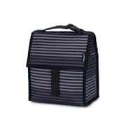 PACKiT Freezable Lunch Bag, Gray Stripe (PKT-PC-STR)