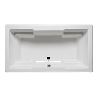 Americh Quantum 72'' x 42'' Drop in Bathtub; Biscuit