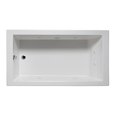 Americh Wright 60'' x 30'' Drop in Whirlpool Bathtub; Biscuit