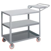 Little Giant USA 18'' x 48'' 3-Shelf Utility Cart w/ Writing Shelf