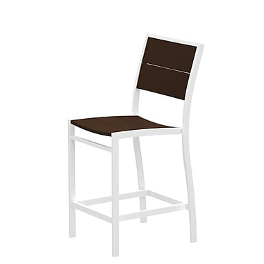 Trex Surf City Patio Dining Chair; Textured White/Vintage Lantern