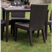 Hospitality Rattan Soho Patio Woven Square Dining Table
