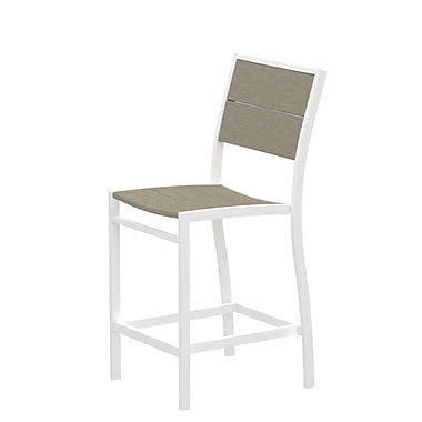 Trex Surf City Patio Dining Chair; Textured White/Sand Castle