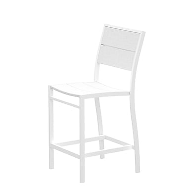 Trex Surf City Patio Dining Chair; Textured White/Classic White