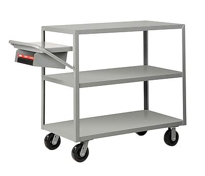 Little Giant USA 24'' x 52'' Multi-Shelf Utility Cart w/ Writing Shelf and Storage Pocket