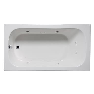 Americh Miro 60'' x 30'' Drop in Whirlpool Bathtub; Biscuit