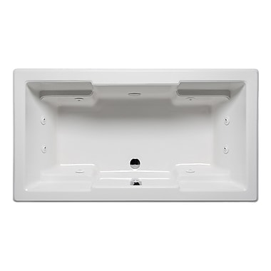 Americh Quantum 72'' x 42'' Drop in Whirlpool Bathtub; Biscuit