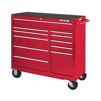 Waterloo Industries Professional Series 41''W 11-Drawer Tool Chest; Red
