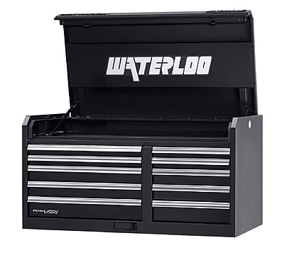 Waterloo Industries Professional HD Series 46''W 10-Drawer Top Chest; Red