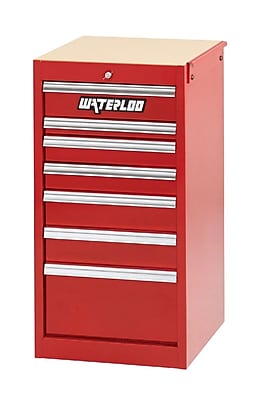 Waterloo Industries Professional HD Series 18.5''W 7-Drawer Side Chest; Red