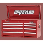 Waterloo Industries Professional Series 40.5''W 8-Drawer Top Chest; Red