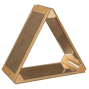 Wood Designs Triangle Mirror