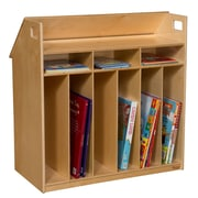 Wood Designs Portable 9 Compartment Book Display w/ Casters
