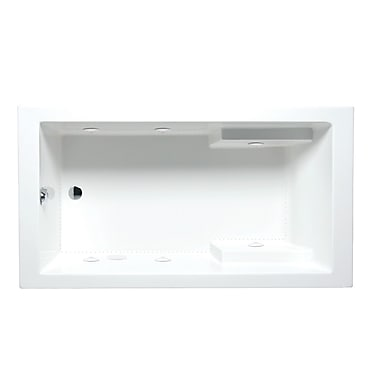 Americh Nadia 72'' x 36'' Drop in Whirlpool Bathtub; Biscuit
