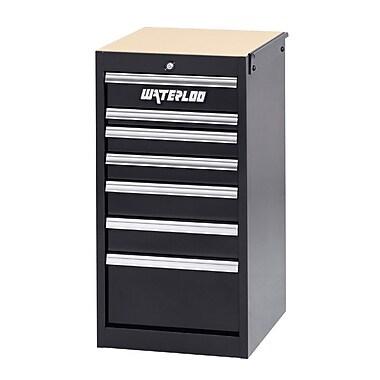 Waterloo Industries Professional HD Series 18.5''W 7-Drawer Side Chest; Black