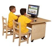 Wood Designs Wood Adjustable Height Student Computer Desk