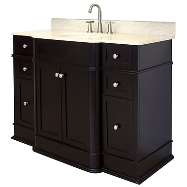 American Imaginations 50'' Single Traditional Bathroom Vanity Set; Chrome