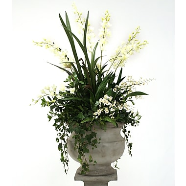 Distinctive Designs Silk Orchid and Agapanthus Mix w/ Ivy and Fern in Corina Urn