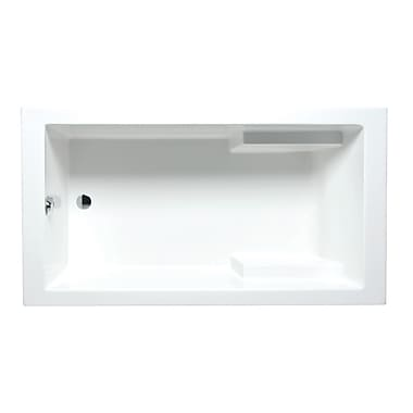 Americh Nadia 66'' x 36'' Drop in Soaking Bathtub; Almond