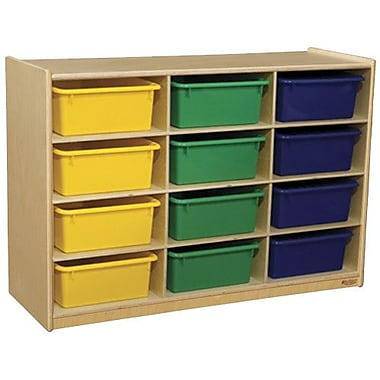 Wood Designs Portable 12 Compartment Cubby w/ Casters; Assorted