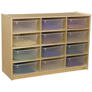 Wood Designs Portable 12 Compartment Cubby w/ Casters; Translucent