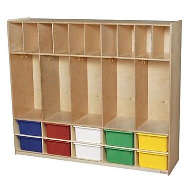 Wood Designs 4 Tier 5 Wide Coat Locker; Assorted